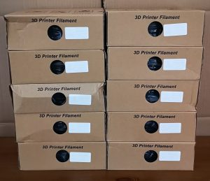 Another 10 boxes of filament
