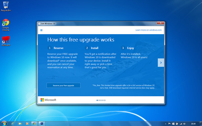 PC Care - Windows 10 Upgrade App - Click to reserve
