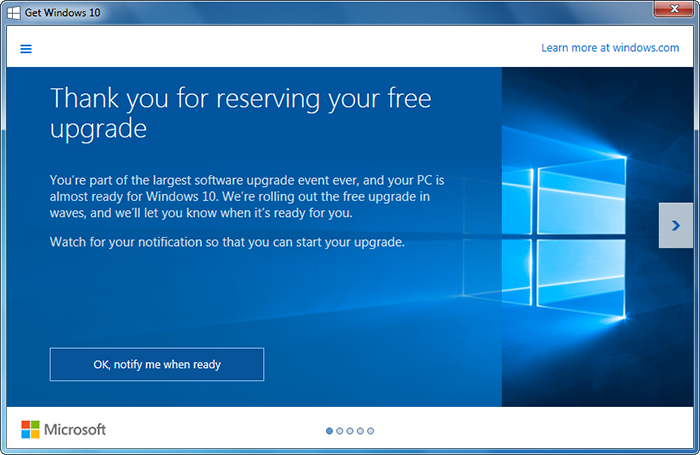 PC Care - Windows 10 Upgrade Rollout