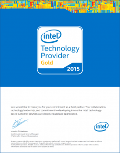 Mike Cheadle - PC Care - 2015 Gold Intel Technology Provider Certificate