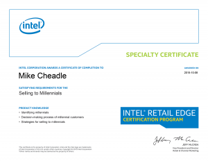 PC Care - Intel Specialty Certificate - Selling to Millennials